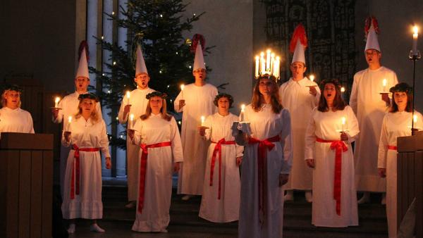 Luciakonsert i Norrmalmskyrkan