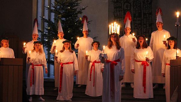 Luciakonsert i Hedvig Eleonora kyrka