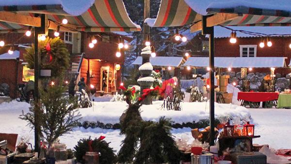 Julmarknad i Vallby/Västerås med Julbord